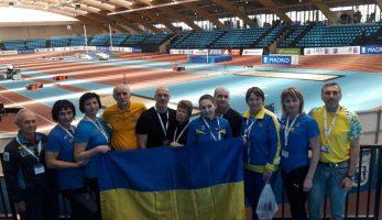 Підсумки виступу українських атлетів на Чемпіонаті Європи в закритих приміщеннях у категорії мастерс